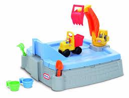 Little Tikes Outdoor Kitchen Kids Outdoor Sandbox Children Play Sand Toy Backyard Box Cover Set