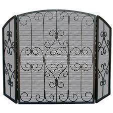 small decorative fireplace screens