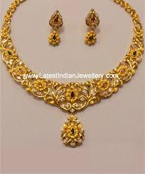 Gold Beautiful Necklace Design Dual Tone Gold Necklace Set Gold Necklace Bridal Jewelry