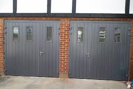 double garage doors with windows. CarTeck Side Hinge Garage Doors Crocodilla With Amazing Double Windows