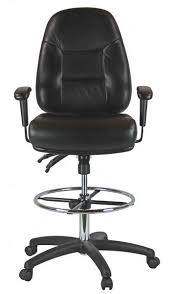 office drafting chair. Premium Leather Drafting Chair With Arms 100KL-3-600 Office