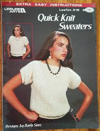 Quick Knit Sweaters by Darla Sims Leisure Arts Leaflet No 318 | Etsy