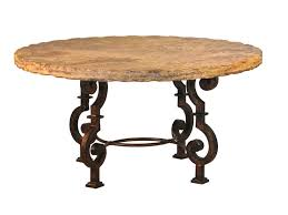 travertine dining table round
