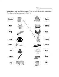 Math Worksheets Rhyming Words Worksheet For Kindergarten Pdf Word ...