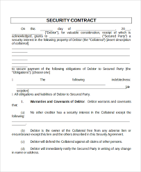 Sample Security Contract - East.keywesthideaways.co