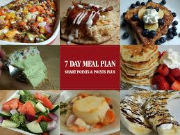 7 day meal plan for smart points