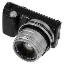sony mirrorless camera. fotodiox lens mount adapter - contax g rangefinder to sony alpha e-mount mirrorless camera f