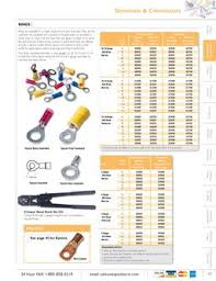 Ring Terminals Size Chart 2 Ring Terminal In Misc Terminals By Waytek Inc
