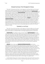 how to write a summary essay examples what is life sli   summary essays toreto co sample essay papers 2 how to write a summary essay essay full