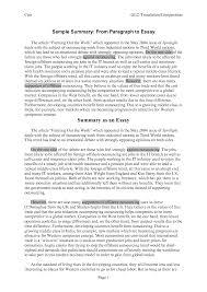 how to write a summary essay examples what is life sli   summary essays toreto co sample essay papers 2 how to write a summary essay essay full