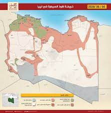 خريطة النفوذ والسيطرة في ليبيا 04-06-2020