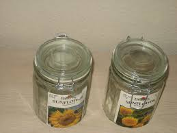Decorative Clear Glass Jars With Lids Pair of Clear Glass Jars Wire Locking Lid Collectible Decorative 65