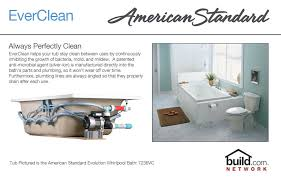 american standard 2903 018wc 173 shell savona 60 acrylic whirlpool bathtub with reversible drain everclean technology and aassage jets lifetime