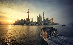 shanghai sunset 4k wallpapers