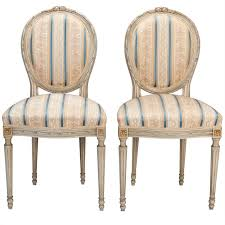 set of eight upholstered french dining chairs for