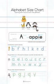 Manuscript Alphabet Size Chart