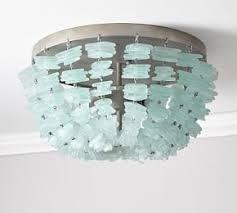 sea glass chandelier. Quicklook Enya Seaglass Flushmount $499 Sea Glass Chandelier