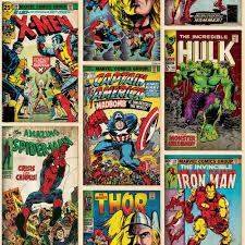 Marvel Bedroom Wallpaper Marvel Superheroes Wallpaper Comic Cover At Wilkocom