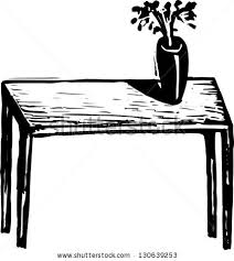 table clipart black and white. pin vase clipart table #8 black and white