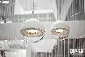 2 modern ceiling lamps stock photo