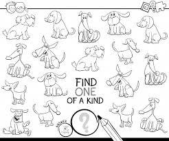Illustrazione In Bianco E Nero Di Trova Un Gioco Per Bambini Con