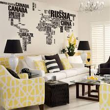 World Map Home Decor Removable Wall Stickers Letter World Map Quote Vinyl Decal Art