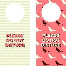 Do Not Disturb Door Hanger Template. Diy Do Not Disturb Door Hanger ...