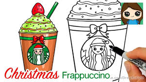 How To Draw A Starbucks Christmas Frappuccino Easy Youtube
