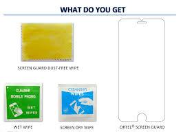 Ortel ® Karbonn A3 Screen guard ...
