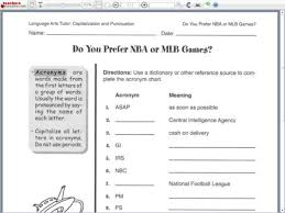 Acronyms Worksheet For 4th 6th Grade Lesson Planet