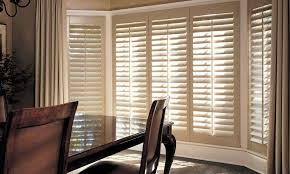 window treatments for bay windows.  Bay Heritance Shutters With Bay Windows In Dining Room  With Window Treatments For Bay Windows W