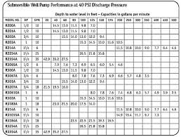 Well Pump Sizing Chart Submersible Pump Calculator Oupon Info