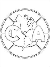 Small Picture Club Amrica football team coloring page Coloring pages