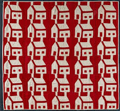"Infinite Variety: Three Centuries of Red and White Quilts ... & Schoolhouse Quilt Artist unidentified. United States 1880–1910. Pieced  cotton 53 1/2 x 59 1/2 in. Collection of Joanna S. Rose Photo by Gavin  Ashworth. "" Adamdwight.com"
