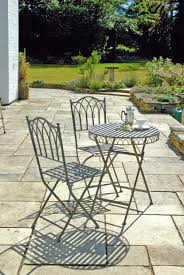 patio table chair sets lovely uk gardens ornate grey metal 3 folding bistro and chairs ampamp
