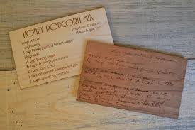 Custom Wood Recipe Card Engraved With Original Handwriting Or Typed ...
