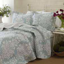 laura ashley rowland blue quilt bedding