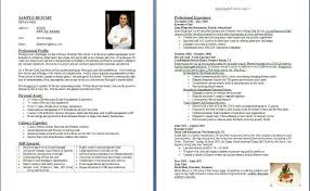 Chef Resume Samples Musiccityspiritsandcocktail Com