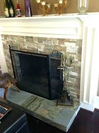 stacked stone tile fireplace fireplace stone tile installing over ideas installation stacked slate tile fireplace