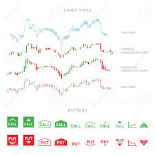 Candle Bar Chart Trading Infographic Elements In Line Chart Candle Chart Bar