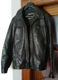fantastic zara men leather jacket size m in a great condition