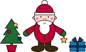 Clipart Simple Santa Claus Christmas Scene