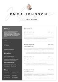 Modern Resume Template With Photo Professional Resume Template For