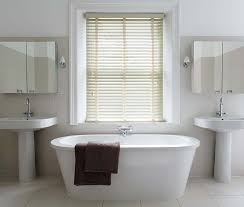 blinds in a bathroom