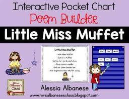 Little Miss Chart Interactive Pocket Chart Poem Builder Little Miss Muffet