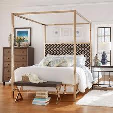 INSPIRE Q Solivita Queen-size Canopy Champagne Gold Metal Poster Bed ...