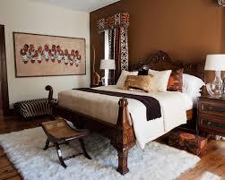 safari style furniture. Example Of A Trendy Medium Tone Wood Floor Bedroom Design In Denver With Brown Walls Safari Style Furniture N