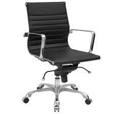 eames style office chairs. Poly And Bark Ribbed Mid Back Office Chair, Black Eames Style Chairs H