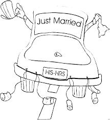 7.167 zugriffe auf alle ausmalbilder bislang: Just Married Auto Malvorlage Coloring And Malvorlagan