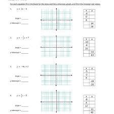slope intercept form worksheet answer key choice image form